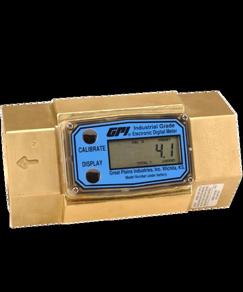 "GPI Flomec 1 1/2"" ISOF Brass Industrial Flow Meter, 10-100 GPM, G2B15I51GMC"