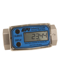 """GPI Flomec 1 1/2"""" NPTF High Pressure Stainless Steel Industrial Flow Meter, 10-100 GPM, G2H15N62GMC"""