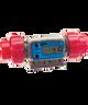 "GPI Flomec 1/2"" ISOF PVDF Industrial Flow Meter, 1.2-12 GPM, G2P05I62GMC"