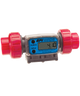 "GPI Flomec 1/2"" ISOF PVDF Industrial Flow Meter, 1.2-12 GPM, G2P05I72XXC"