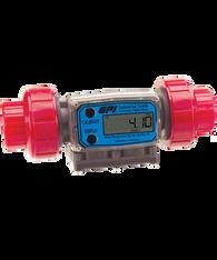 """GPI Flomec 1"""" NPTF PVDF Industrial Flow Meter, 5-50 GPM, G2P10N52GMC"""