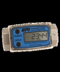 """GPI Flomec 1/2"""" NPTF Stainless Steel Industrial Flow Meter, 1-10 GPM, G2S05N19GMA"""
