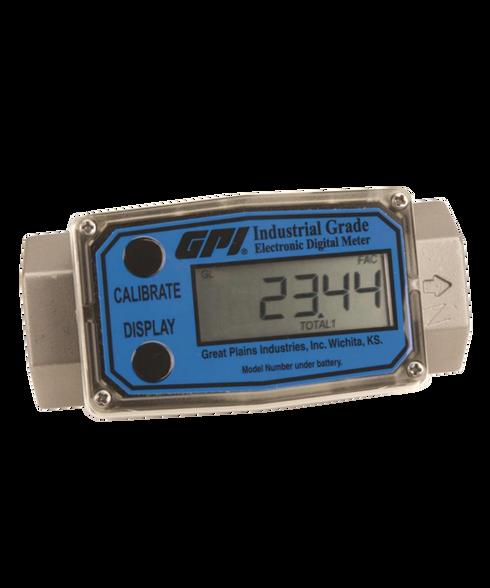 """GPI Flomec 3/4"""" NPTF Stainless Steel Industrial Flow Meter, 2-20 GPM, G2S07N19GMA"""