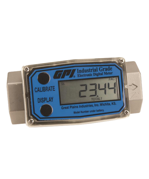 """GPI Flomec 1 1/2"""" ISOF Stainless Steel Industrial Flow Meter, 10-100 GPM, G2S15I09GMB"""