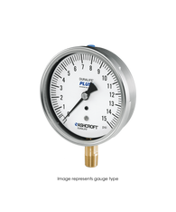 Ashcroft Type 1009 Stainless Steel Duralife Pressure Gauge 30 in Hg Vacuum / 150 PSI 35-1009-AW-02L-30IMV&150#