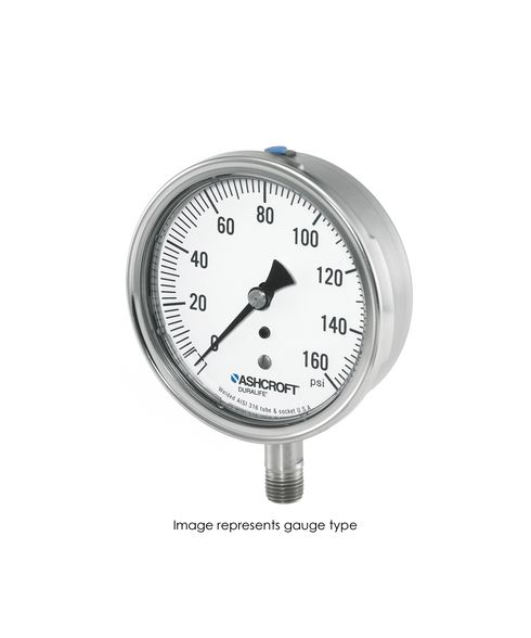 Ashcroft Type 1009 Stainless Steel Duralife Pressure Gauge 0-5000 PSI 35-1009-SW-02L-5000#
