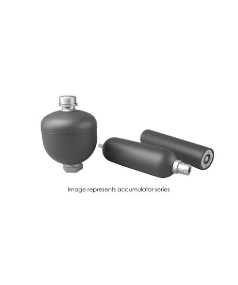Bladder Accumulator, 6000 PSI, App 22, 2.5 Gallon, BUTYL, SAE-24 TBR60-2.5BMFA