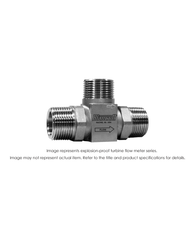 """Explosion Proof Flow Meter, 3/4"", 5000 PSI, 2-15 GPM"" B110C-750"
