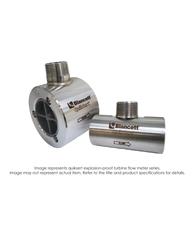 """Quiksert Explosion Proof Turbine Flow Meter, 11/2"" x 2"", 16 PSI, 15-180 GPM"" B132C-150"