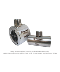 """Quiksert Explosion Proof Turbine Flow Meter, 2"" x 2"", 9 PSI, 40-400 GPM"" B132C-200"