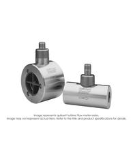 """Quiksert Cement Slurries Turbine Flow Meter, 2"" x 2"", 9 PSI, 40-400 GPM"" B132-520"