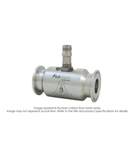"""Floclean Sanitary Turbine Flow Meter (No Hub), 1-1/2"" x 1-1/2"", 1000 PSI, 15-180 GPM, No Pickup"" B16D-115A-9BA"