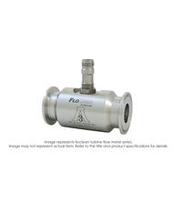 """Floclean Sanitary Turbine Flow Meter (No Hub), 2-1/2"" x 2"", 1000 PSI, 40-400 GPM, B220-950 F To I Converter Pickup"" B16D-220A-4BA"