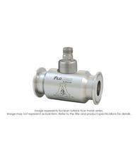 """Floclean Sanitary Turbine Flow Meter (With Hub), 1-1/2"" x 7/8"", 1000 PSI, 3-30 GPM, No Pickup"" B16D-108A-9AA"