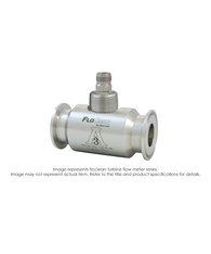 """Floclean Sanitary Turbine Flow Meter (With Hub), 1-1/2"" x 1-1/2"", 1000 PSI, 15-180 GPM, B220-951 F To V Converter Pickup"" B16D-115A-8AA"