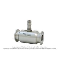 """""""Floclean Turbine Flow Meter (No Hub), 1-1/2"""" x 1/2"""", 1000 PSI, 0.75-7.5 GPM, B111109 Standard Pickup"""" B16N-105A-2BA"""