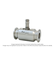"""Floclean Turbine Flow Meter (No Hub), 1-1/2"" x 3/4"", 1000 PSI, 2-15 GPM, B161210 NEMA 6 Pre-Amp Pickup"" B16N-107A-1BA"