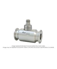 """""""Floclean Turbine Flow Meter (With Hub), 1-1/2"""" x 3/4"""", 1000 PSI, 2-15 GPM, B111109 Standard Pickup"""" B16N-107A-2AA"""