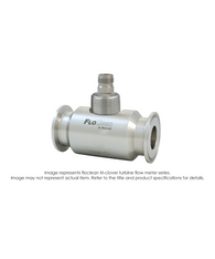 """Floclean Turbine Flow Meter (With Hub), 2-1/2"" x 2"", 1000 PSI, 40-400 GPM, No Pickup"" B16N-220A-9AA"