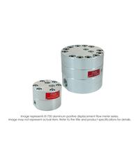 """Aluminum Positive Displacement Flow Meter, -185deg F (85deg C), Teflon Standard, 1-1/4"" Female NPT, 5000 PSI, 0.5-60.0 GPM"" B175-A80"