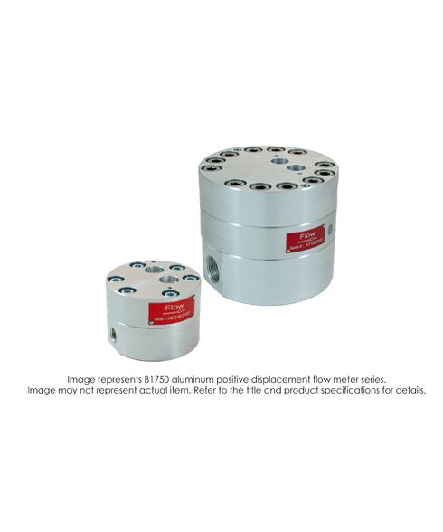 """""""Stainless Steel Positive Displacement Flow Meter, -400deg F (205deg C), Viton, 1/4"""" Female NPT, 5000 PSI, 0.01-2.00 GPM"""" B175-S20-V"""