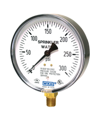 WIKA Type 111.10SP Fire Sprinkler Pressure Gauge 0-300 PSI 4233761