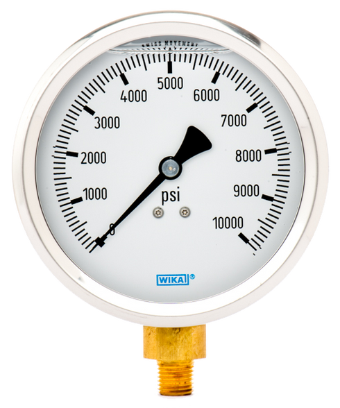 WIKA Type 213.53 Utility Pressure Gauge 0-10000 PSI 9699231