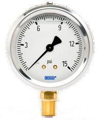 WIKA Type 213.53 Utility Pressure Gauge 0-15 PSI 9699095