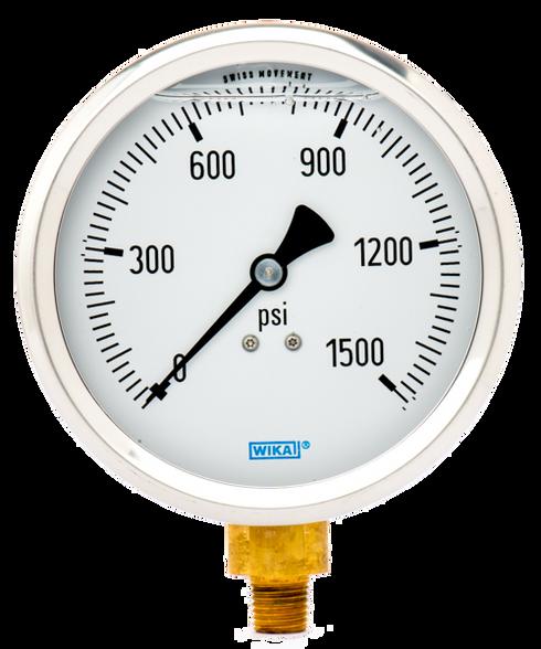 WIKA Type 213.53 Utility Pressure Gauge 0-1500 PSI 9699193