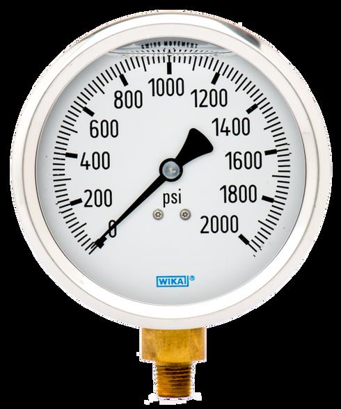 WIKA Type 213.53 Utility Pressure Gauge 0-2000 PSI 9699206