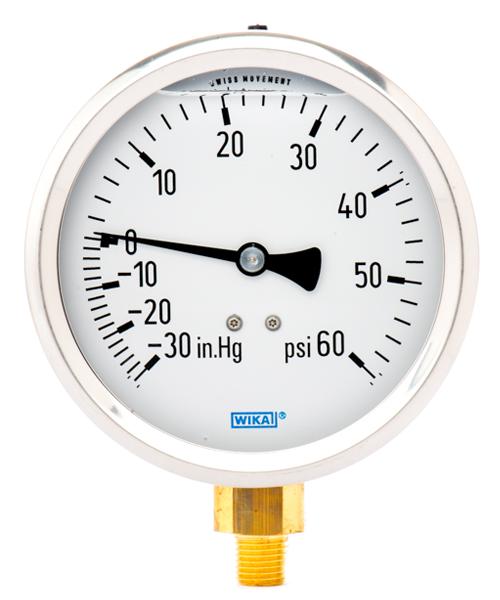 """1//4/"""" NPT Mini Pressure Gauge Water Compressor Hydraulic Vacuum 0-60 PSI Gauge Ma"""