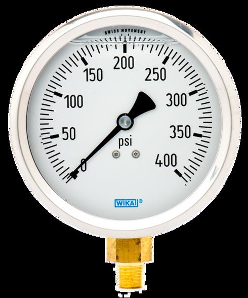 WIKA Type 213.53 Utility Pressure Gauge 0-400 PSI 9699150
