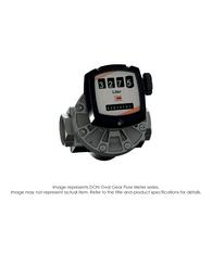 "DON Oval Flow Meter, Aluminum/PPS, 1/4"" NPT, 0.5-27 GPH DON-110GN2"
