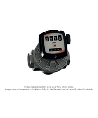 "DON Oval Flow Meter, Aluminum/PPS, 4"" NPT, 20-400 GPM DON-155GNC"