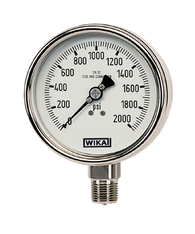 WIKA Type 232.53 Stainless Steel Industrial Gauge 0-30 in Hg Vacuum 9745548