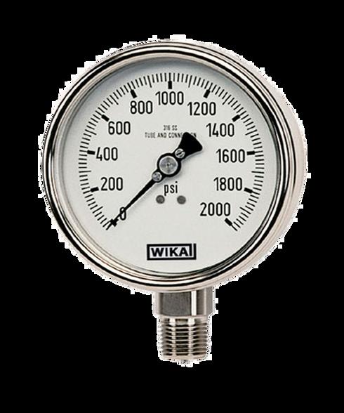 WIKA Type 232.53 Stainless Steel Industrial Gauge 0-30 in Hg Vacuum 9745548