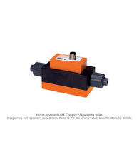 MIK Magneto Inductive Flow Meter, PVDF/FFKM/Tantalum Electrodes, 2.4-48 GPH MIK-6FTU2