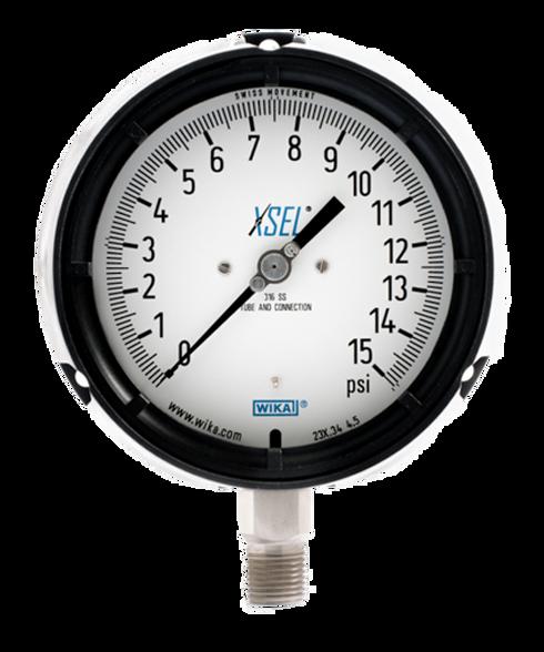 WIKA Type 232.34 XSEL Process Pressure Gauge 0-15 PSI 9834800