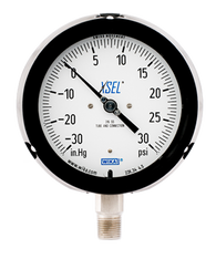 WIKA Type 232.34 XSEL Process Pressure Gauge 0-30 in Hg Vacuum / 30 PSI 9834745