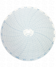 "Partlow Circular Chart, 10"", 100-650 F, 24 Hr, Box of 100 00208004"