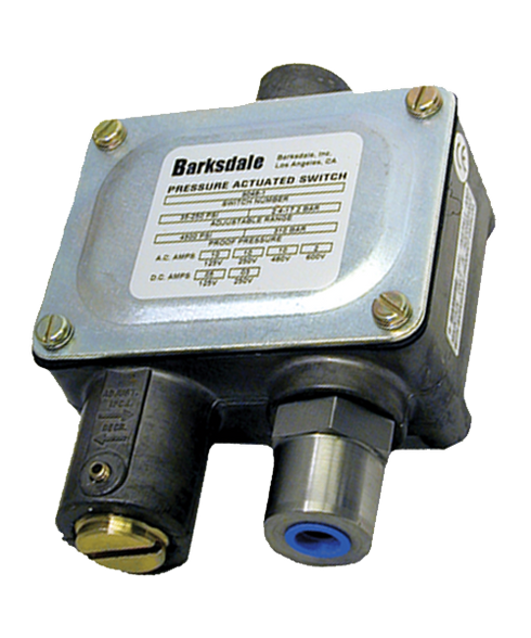 Barksdale Series 9048 Sealed Piston Pressure Switch, Housed, Single Setpoint, 50 to 500 PSI, 9048-2