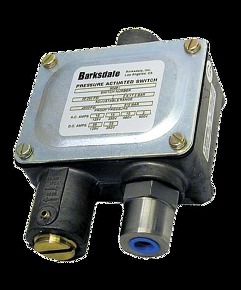 Barksdale Series 9048 Sealed Piston Pressure Switch, Housed, Single Setpoint, 200 to 3000 PSI, 9048-4-CS
