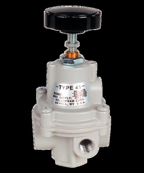 "Bellofram Type 41-2 Adjustable Precision Regulator (With Bonnet Vent Port), 1/4"" NPT, 0-2 PSI, 960-115-000"