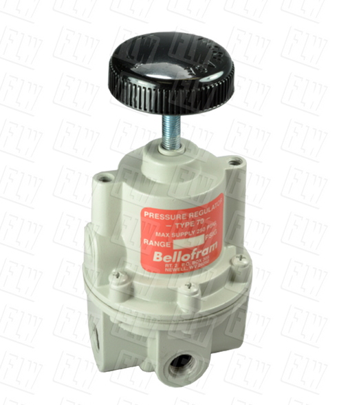 "Bellofram Type 70 High Flow Air Pressure Regulator, 1/4"" NPT, 0-2 PSI, 960-129-000"