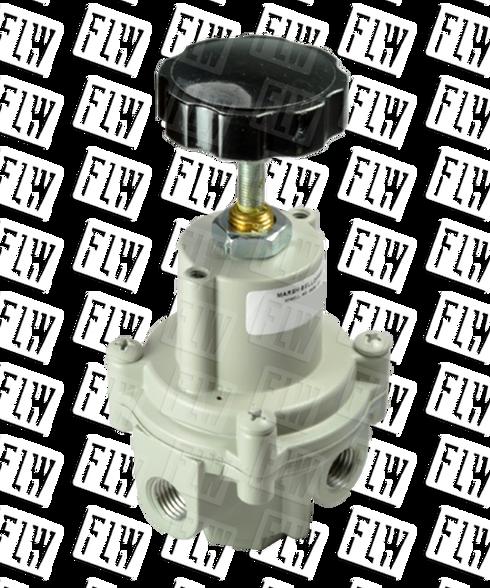 "Bellofram Type 41-1 Adjustable Precision Regulator (With O Bonnet Vent Port), 1/4"" NPT, 0-60 PSI, 960-171-000"