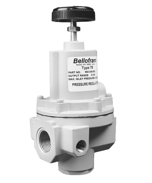 "Bellofram Type 78 High Flow Regulator, 1/2"" NPT, 0-30 PSI, 960-327-000"