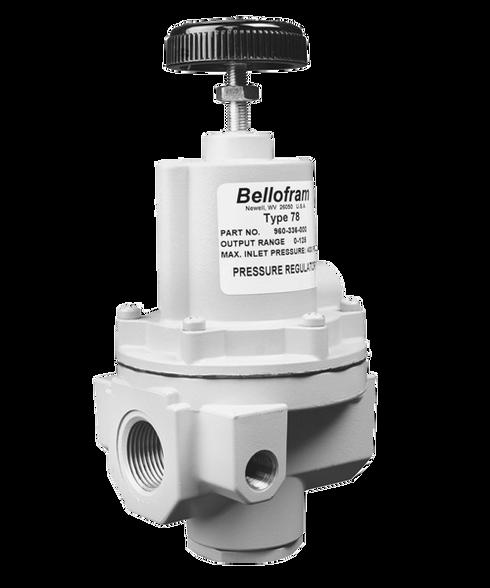 "Bellofram Type 78 High Flow Regulator, 1"" NPT, 0-10 PSI, 960-353-000"