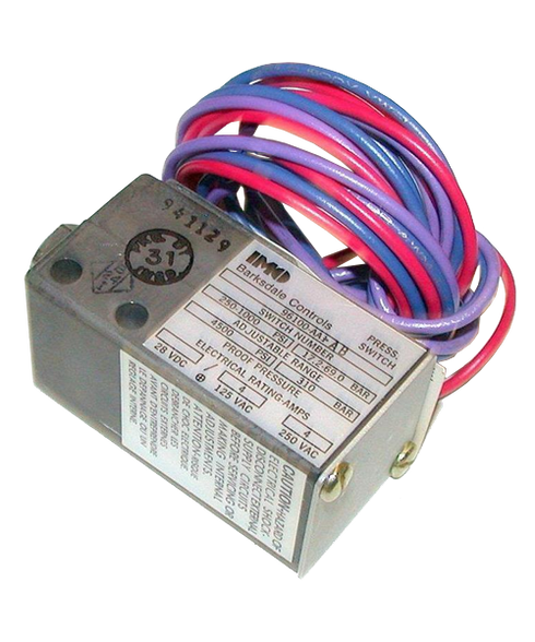 Barksdale Series 96100 Sealed Piston Pressure Switch, Single Setpoint, 1000 to 4500 PSI, 96100-AA3