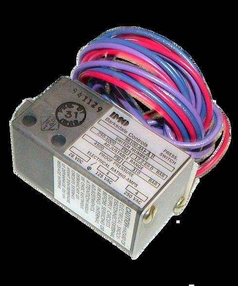 Barksdale Series 96100 Sealed Piston Pressure Switch, Single Setpoint, 250 to 1000 PSI, 96100-BB1