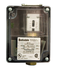 Barksdale Series 9617 Sealed Piston Pressure Switch, Housed, Single Setpoint, 180 to 3000 PSI, 9617-4SS